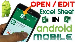 How to OPEN/EDIT Excel Files on an Android Phone or Tablet│Microsoft Excel App tutorial in HINDI