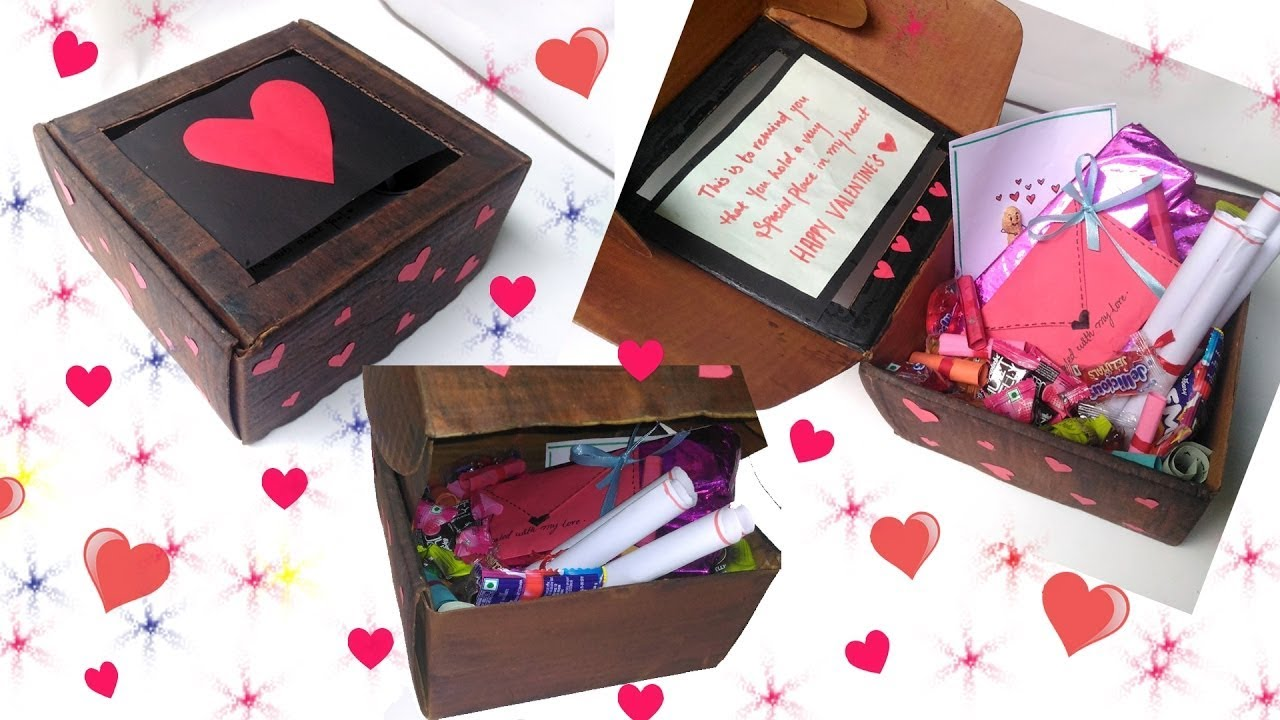 Diy Cute Valentine 39 S Day Box Idea For Him Her Youtube