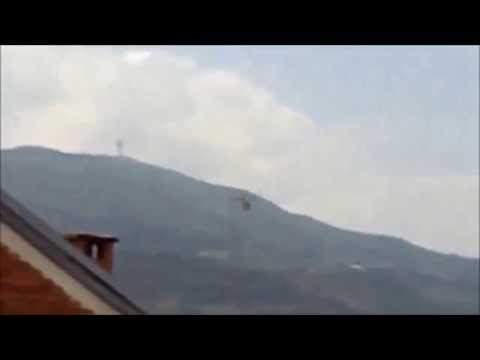 FYROM Police Helicopter Above Skopje - Kumanovo Crisis 09-V-2015
