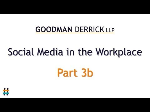 Social Media in the Workplace (4/10) Threatening Posts