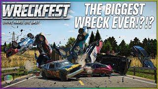 THE BIGGEST WRECK EVER!?!? [Farmlands Stage 1] | Wreckfest