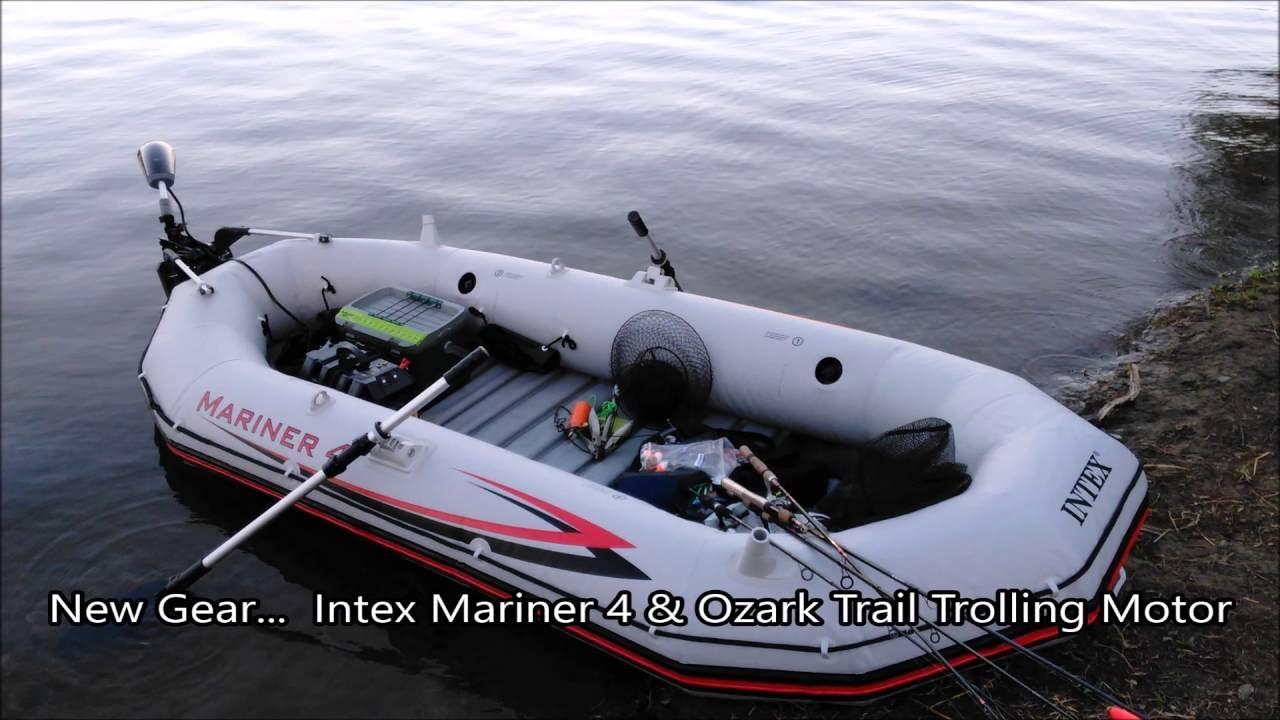 new gear intex mariner 4 ozark trail trolling motor