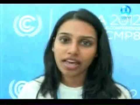 Project Survival Pacific's Devika Raj at UN COP18 Climate Talks