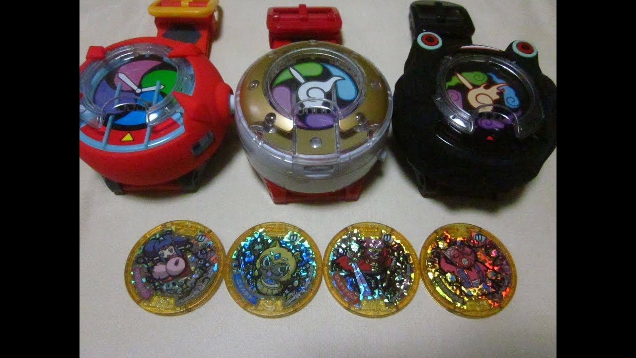 Mystery Legend Yokai all 4 medals Yo-kai Watch Gold Medal Japan Version Sound Voice with QR Code