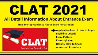 CLAT 2021 - Notification, Dates, Application, Eligibility, Admit Card, Pattern, Syllabus, Result