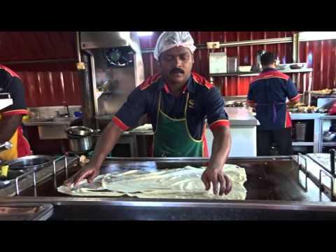 Making Roti Tissue in Penang, Malaysia