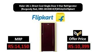 Haier 181 L Direct Cool Single Door 3 Star Burgundy Red HRD-1813SR-R E OnlyOnFlipkart