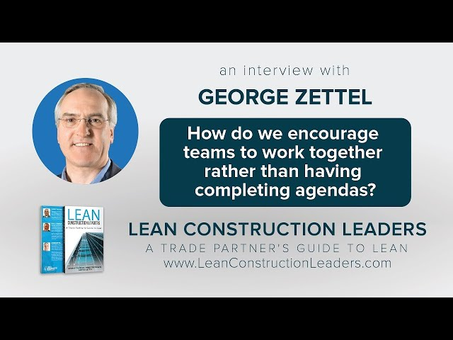 How do we encourage teams to work together rather than completing agendas?