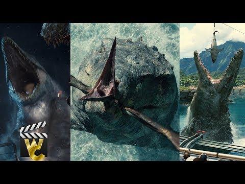 Jurassic World Mosasaurus All Scenes 2017
