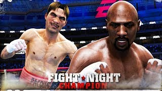 Fight Night Champion XB1X 4K 😴🥊Bare Knuckles Mode: Young Pacquiao vs Prime Hagler