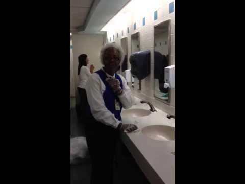 Bathroom Attendant charlotte airport singing bathroom attendant - youtube