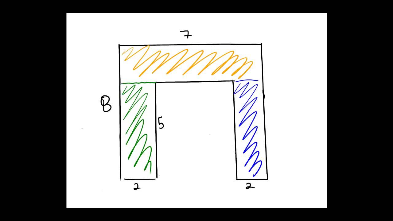 Finding The Area Of A Piecewise Rectangular Region
