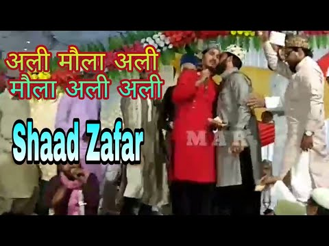 अली मौला अली मौला || Shaad Raza Fatehpuri || New Naat All India Naatiya Mushaira 20/04/2018 ! Part 2