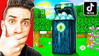 TESTING 10 VIRAL TIKTOK MINECRAFT HACKS TO SEE IF THEY WORK!