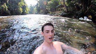 Sumatra Bicycle Adventure. River Paradise in Remote Village. 🇮🇩