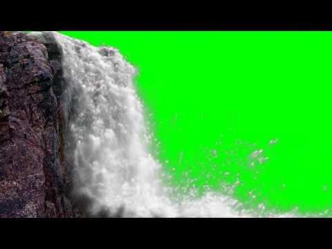 FREE HD Green Screen JUNGLE WATERFALL Thumb