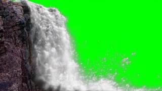 FREE HD Green Screen JUNGLE WATERFALL