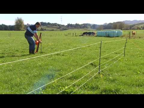 Gallagher Smart Fence Temporary Paddock Installation