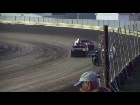 10-11-14 Lee County Speedway Heat Jenae Gustin