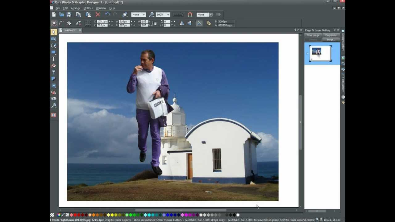 Xara Photo & Graphic Designer 7 - cutting out an object ...