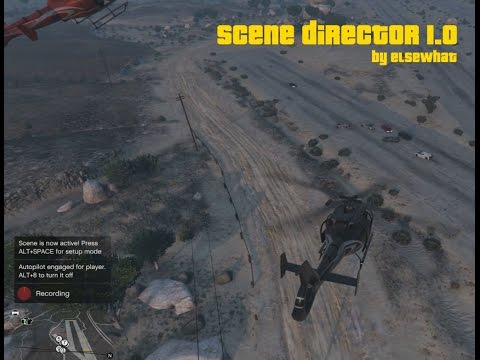 Scene Director 1.0 mod for GTA V Rockstar Editor/Director Mode