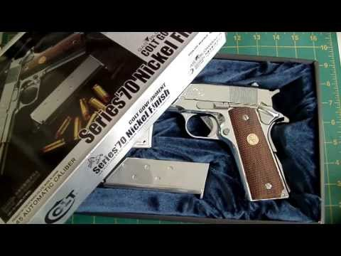 LaZouche Custom airsoft TM Colt Series 70 Nickel plated GBB review