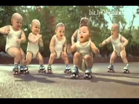 evian baby dance - black eyed peas pump it