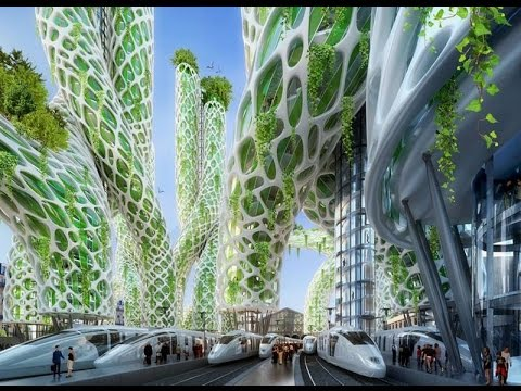 Paris smart city vision 2050 youtube for Architecture futuriste ecologique
