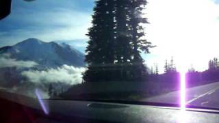 Driving to Sunrise, Mt. Rainier
