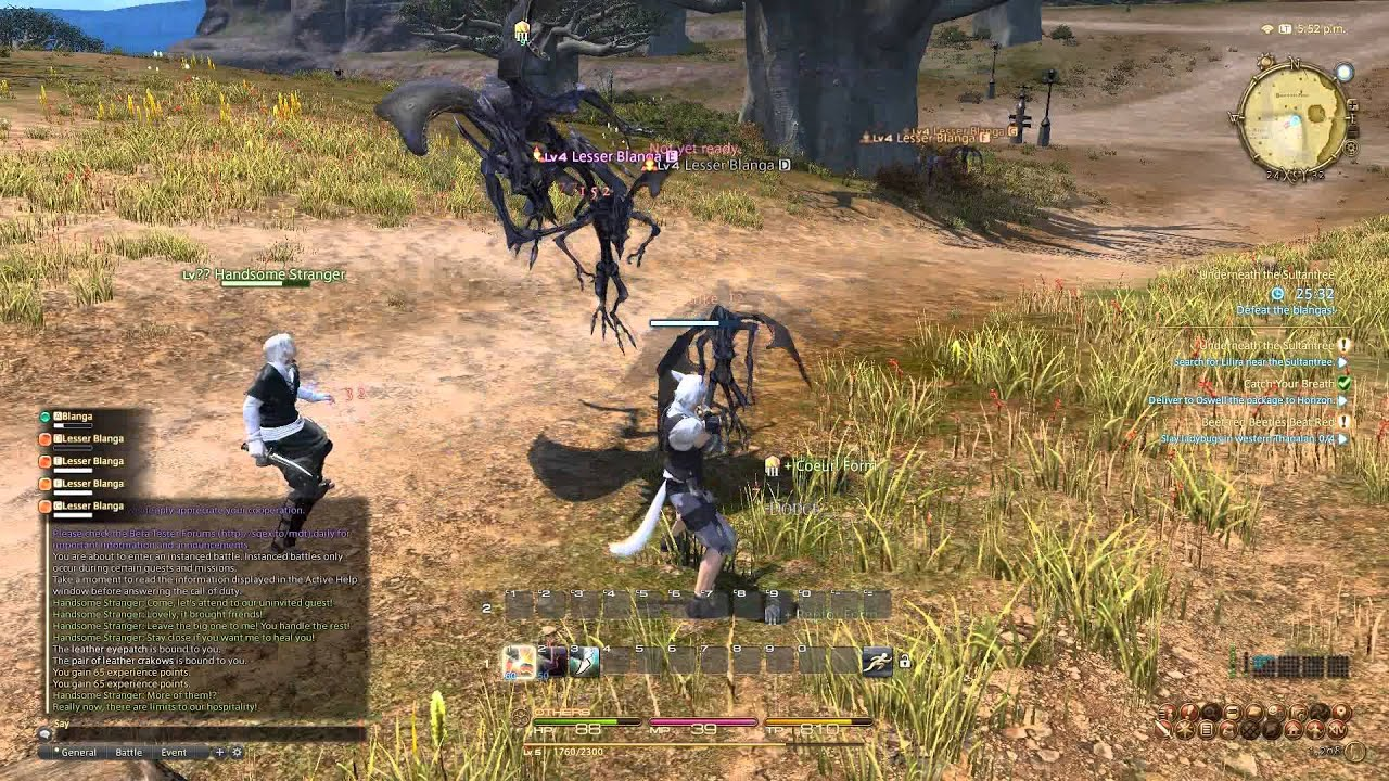 Final Fantasy XIV A Realm Reborn First Boss And