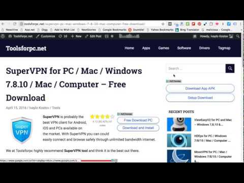 SuperVPN for PC / Windows / Mac - Free Download - YouTube