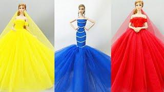 Barbie elbise yapımı | Dikişsiz | 5 dakikada hallet barbi | DIY | Kendin yap | Barbie videyoları