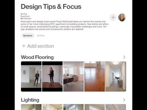 Design Tips & Focus Pinterest board