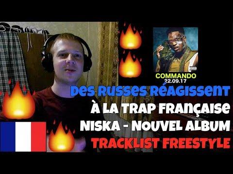 RUSSIANS REACT TO FRENCH TRAP | Niska - New Album Tracklist Freestyle #COMMANDO | REACTION