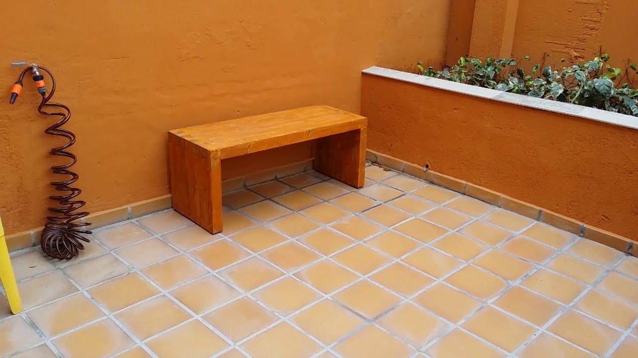 banco de madera para terraza