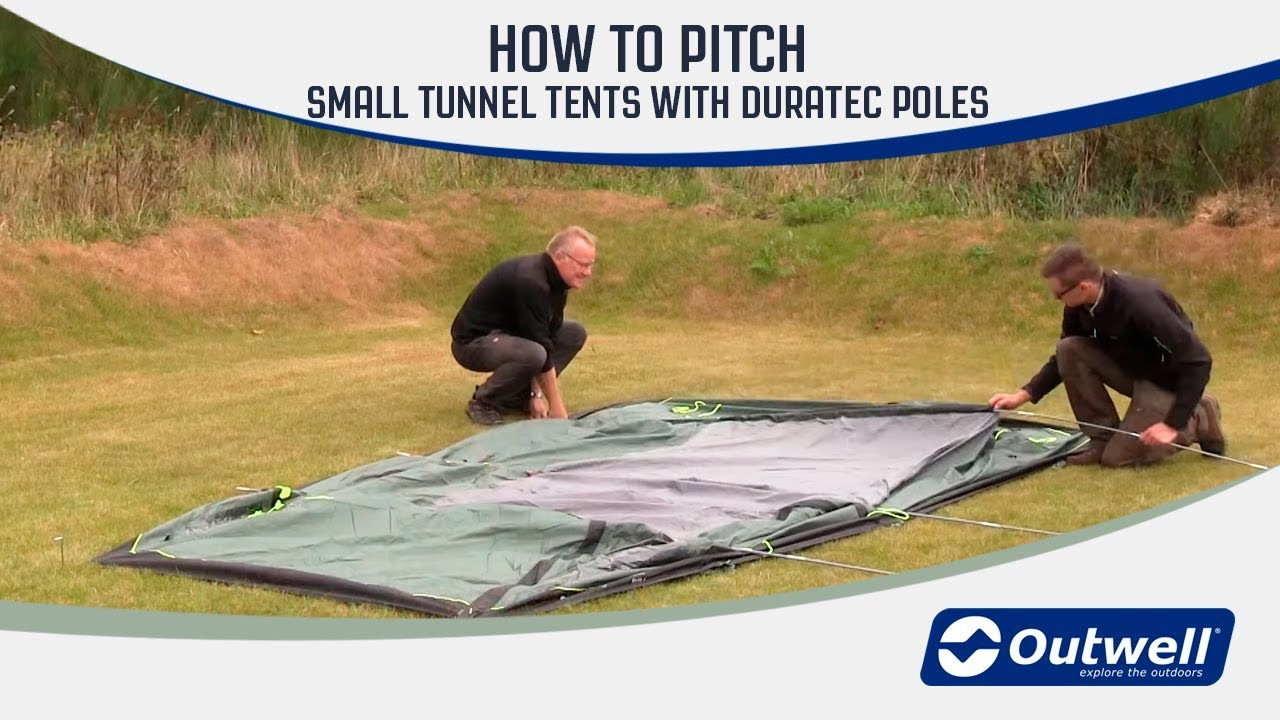 How to pitch an Outwell smaller tunnel tent with Duratec poles | Innovative Family C&ing & How to pitch an Outwell smaller tunnel tent with Duratec poles ...