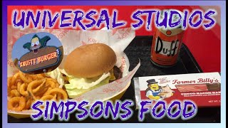Eating Simpsons Food at Universal Studios!