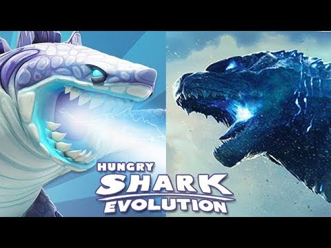 Hungry Shark Evolution - All Sharks In Real Life (Sharkjira)