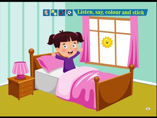 Listen, Say, Colour and Stick - Cim and Cimcime - Okul Öncesi İngilizce Eğitim