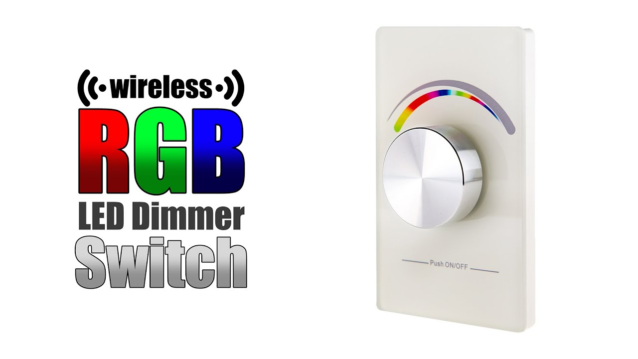 Rgb Dimmer Wireless Rgb Led Dimmer Switch Youtube