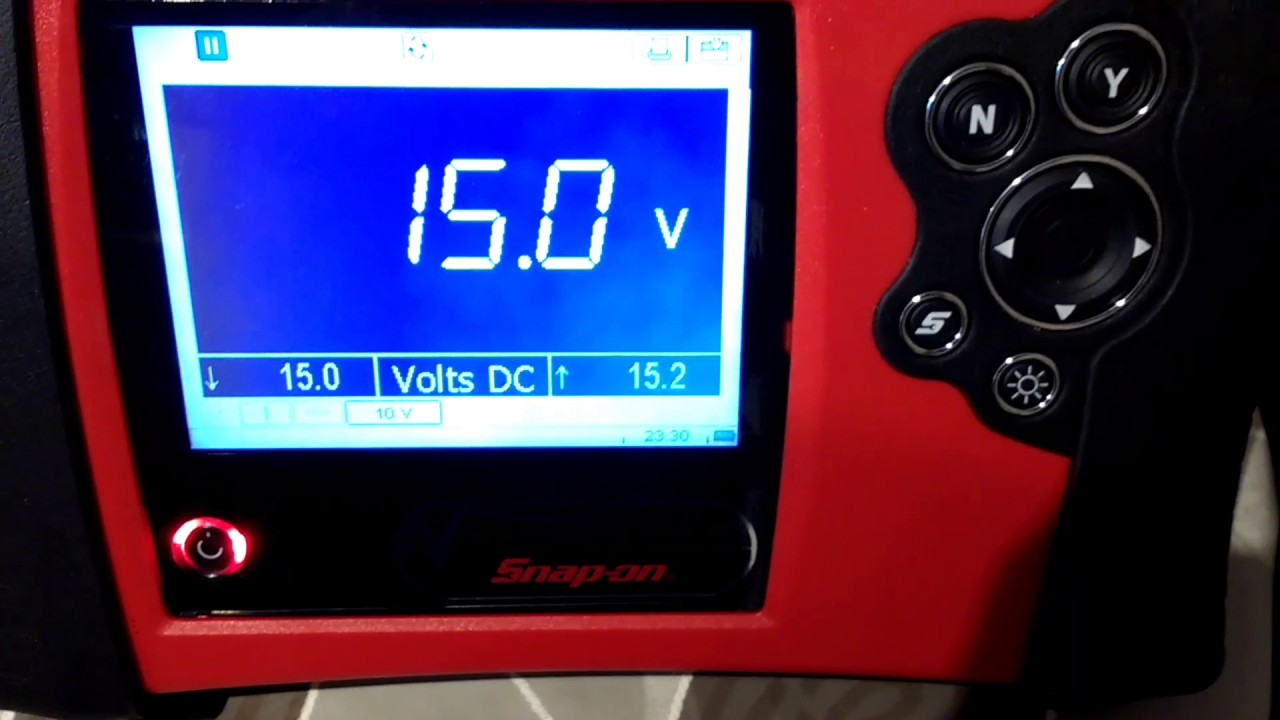 snap on vantage pro high volts reading youtube rh youtube com Snap-on Scan Tool snap on vantage pro user manual