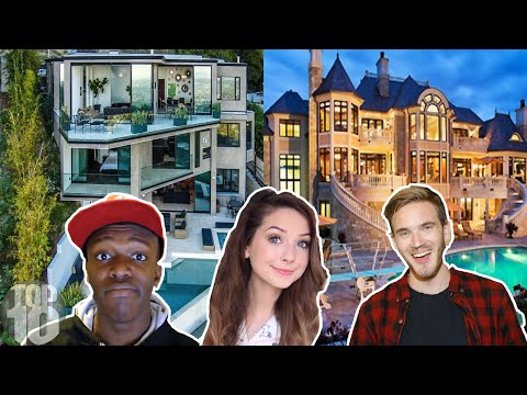 10 MOST Expensive YouTuber Homes (Syndicate, Sidemen, Zoella, Fousey)