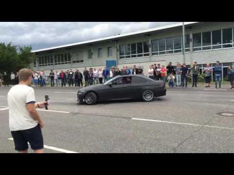 BMW 335i Drift Fail & Crash at Cars & Coffee Böblingen 2016