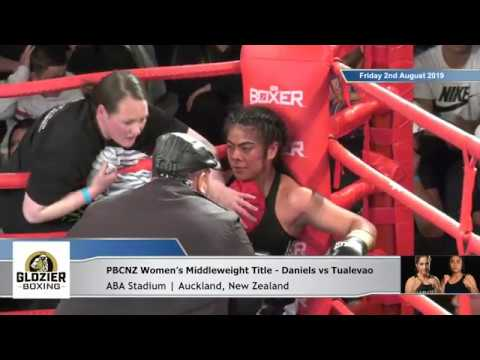 Main Event: Lani Daniels vs Tessa Tualevao | PBCNZ Women's Middleweight Title | 2Aug19