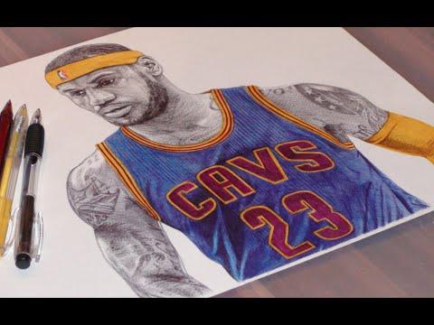 Lebron James Pen Drawing Cavs Demoose Art Youtube