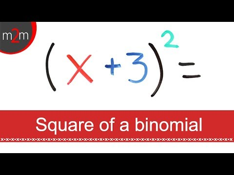 How To SQUARE A BINOMIAL