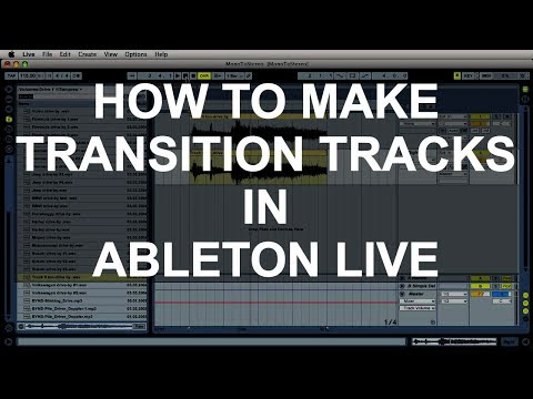 Making DJ Edits In Ableton Live - How To Make A BPM Transition