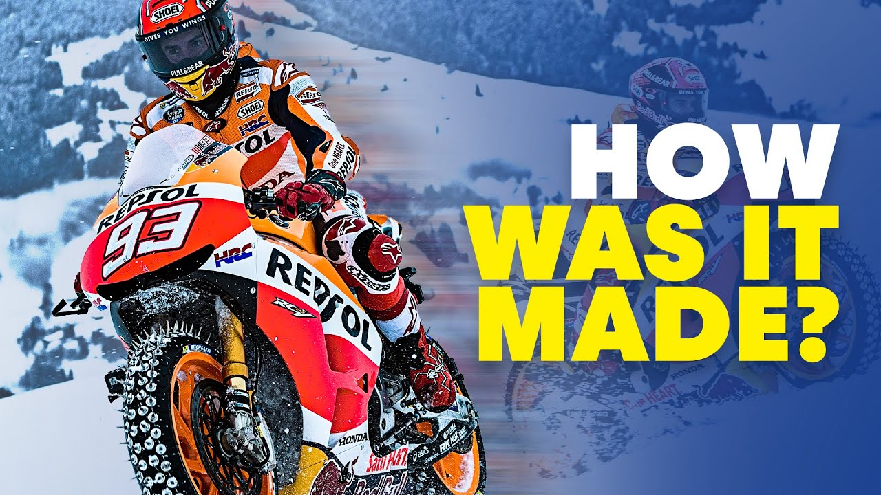 How Was It Made: Marc Marquez Rides Motorbike On Ski Slope