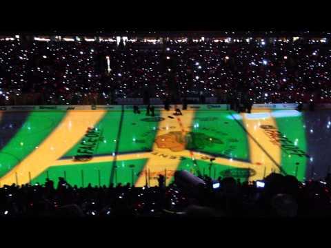 Chicago Blackhawks 2013 Opening Banner Ceremony