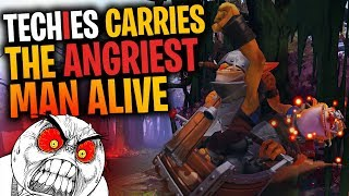 Techies Carries the Angriest Man Alive - DotA 2 Funny Moments